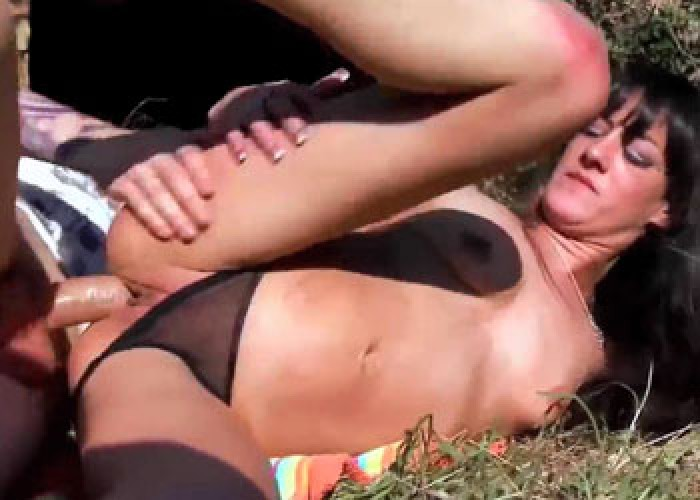 Samia Christal has anal sex in the woods