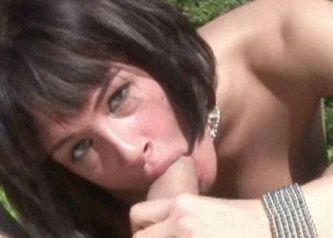 Brunette slut Tory Lane sucks some dick